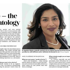 Read more about the article Dr Ugeshnie Naidoo in the Sunday Times